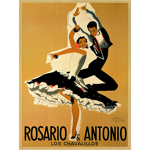 "Trademark Fine Art ""Rosario & Antonio"" Canvas Art by Paul Colin, 18x24"