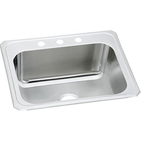 Elkay Pursuit Dcr2522103 Single Bowl Top Mount Stainless Steel