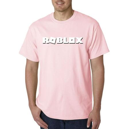 7d4f9c5705066 New Way - New Way 923 - Unisex T-Shirt Roblox Logo Game Accent Medium Light  Pink - Walmart.com