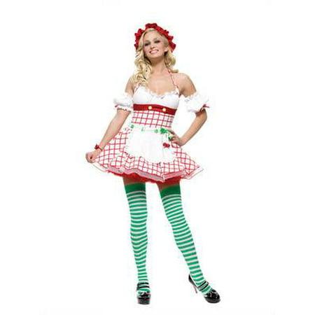 Cherry Lane Mall Halloween (CHERRY GIRL fruit berry tea party candy womens sexy halloween costume L)