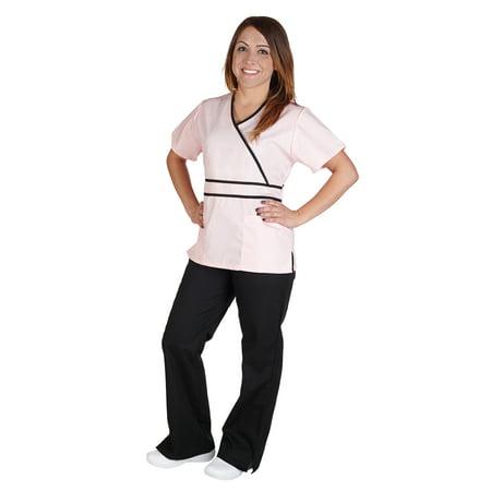 - M&M Scrubs Women's Contrast Mock Wrap Scrub Set, Style 1091