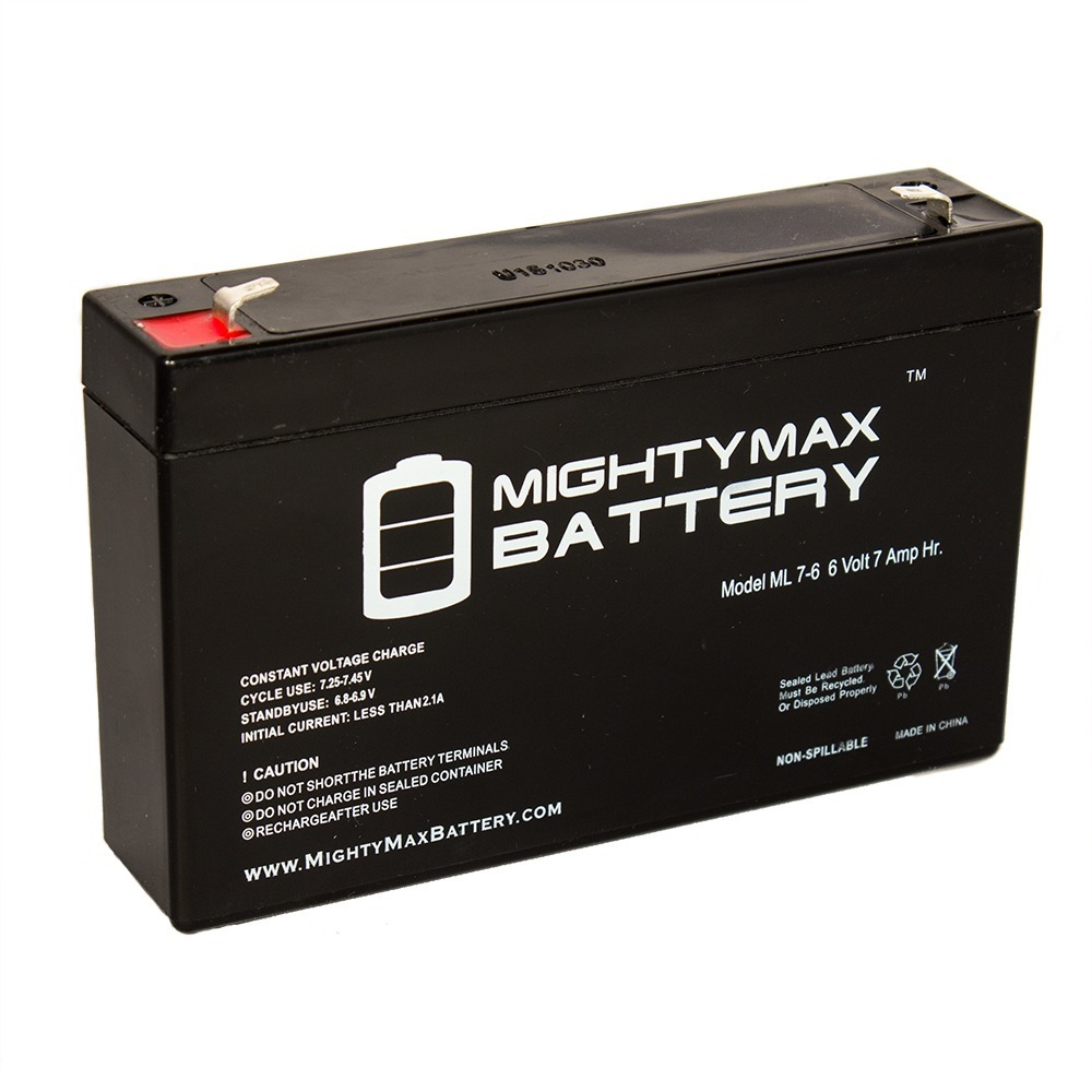 6V 7Ah SLA Replacement Battery for Dynacell WP66 WP76
