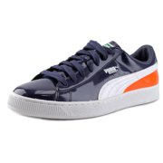 Puma Basket Matte & Shine Men  Round Toe Patent Leather Blue Sneakers