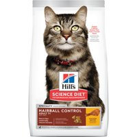 Hill's Science Diet Senior 7+ Hairball Control Chicken Recipe Dry Cat Food, 7 lb bag