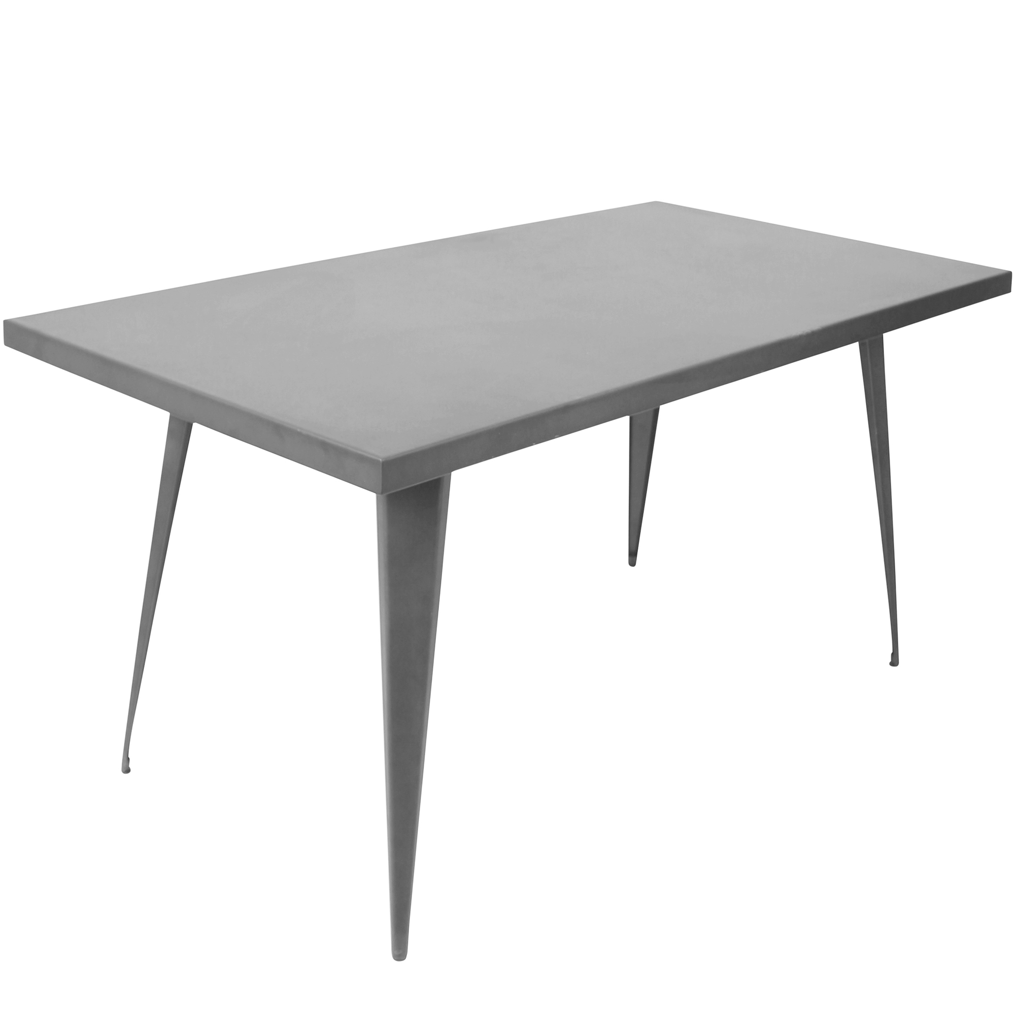 Austin Industrial Dining Table in Matte Grey by Lumisource by LumiSource