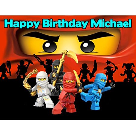 Ninjago Lego Ninja Edible Image Photo Cake Frosting Icing Topper Sheet Personalized Custom Customized Birthday Party - 1/4 Sheet - 79100](Ninja Turtles Cake Toppers)