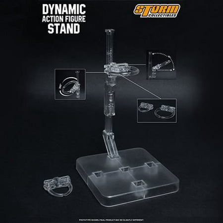 Collectible Display Set - Storm Collectibles Dynamic Action Figure Display Stand for Humanoid Clear