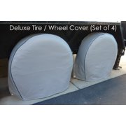 "Formosa Covers Deluxe tire/wheel covers fits tire 21""- 24.5"" Dia. for RV\'s, Travel Trailers, Toy Haulers, 5th wheel trailers, Truck, Van, SUV (Set of 4)"