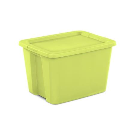 Sterilite 18 Gal. Tote Box Scuba Lime