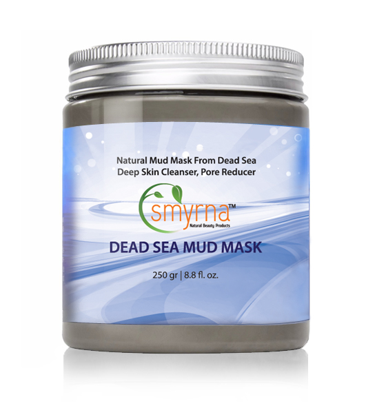 Smyrna Dead Sea Mud Mask For Face & Body 8.8 oz/ 250g -100% NATURAL Deep Skin Cleanser,Pore Reducer. Premium SPA Quailty