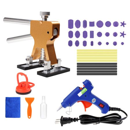 Auto Body Paintless Dent Removal Tools Kit 40pcs Glue Gun Dent Lifter Glue Pulling Tabs Suction Cup Set For Car Hail Damage And Door Dings