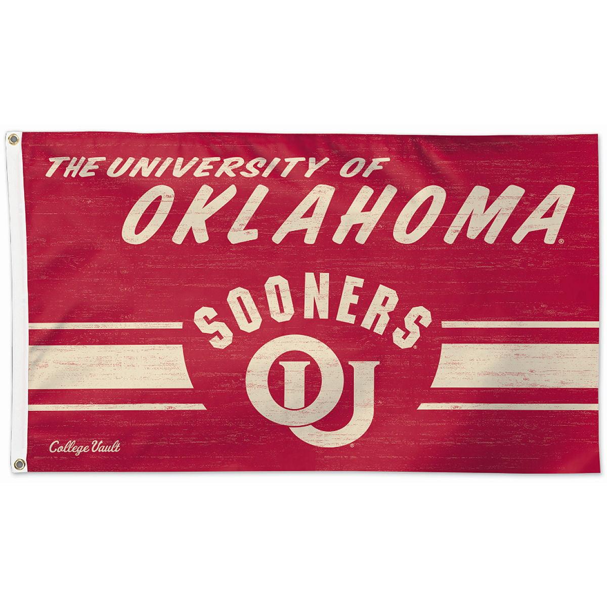 Oklahoma Sooners Throwback Vintage 3' x 5' Pole Flag