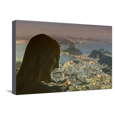 Head of Statue of Christ the Redeemer, Corcovado, Rio De Janeiro, Brazil, South America Stretched Canvas Print Wall Art By Angelo Christ The Redeemer Statue Rio