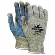 MCR 127-93867L Hero Glove, 7 Gauge Regular Weight Cut Resistant Shell - PVC Dots, Large