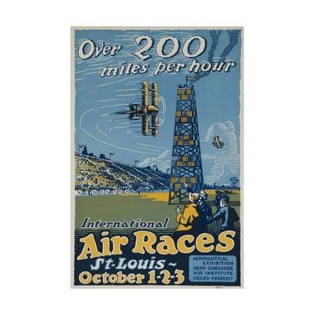 St Louis Halloween Race (Over 200 Miles Per Hour, 1923 St Louis Air Races Print Wall)