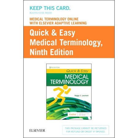Medical Terminology Online With Elsevier Adaptive Learning for Quick & Easy Medical Terminology Access