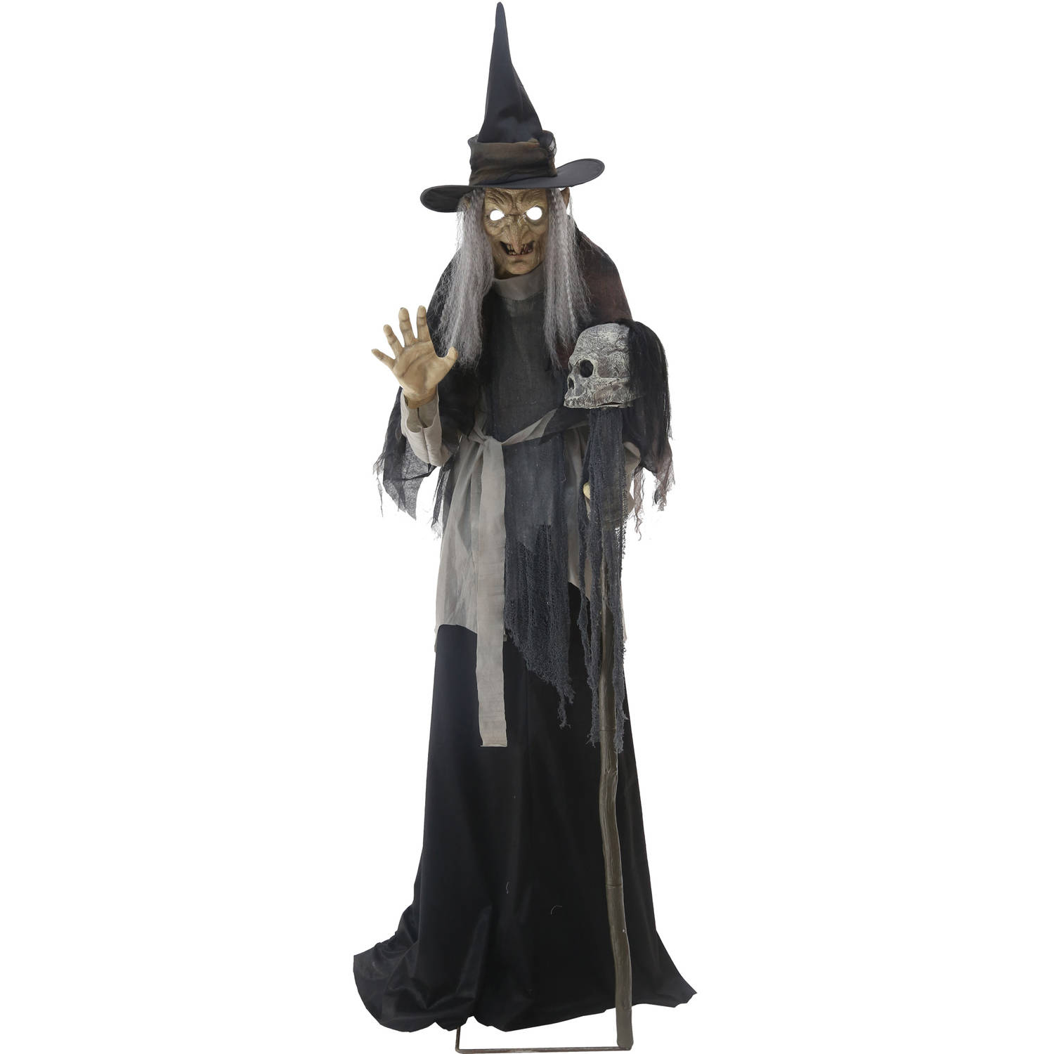 Lunging Haggard Witch Animated Halloween Decoration image