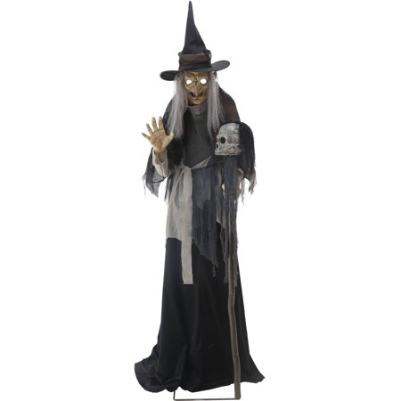 Lunging Haggard Witch Animated Halloween - Halloween Witches Decorations
