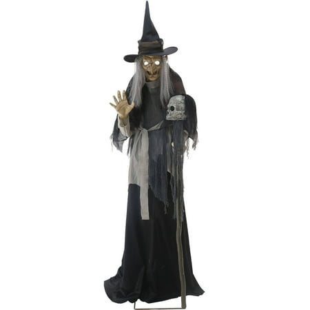 Lunging Haggard Witch Animated Halloween Decoration