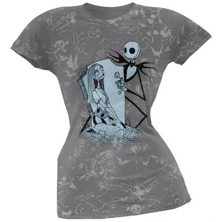 Nightmare Before Christmas - This Rose Juniors T-Shirt - This Is Halloween Nightmare Before Christmas Remix