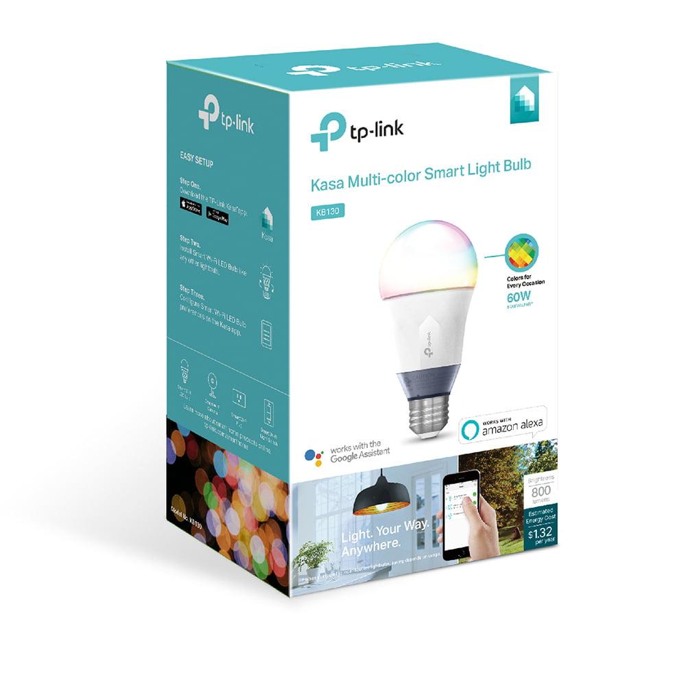TP-Link KB130 A19 Smart Light Bulb, 60W Color LED, 1-Pack