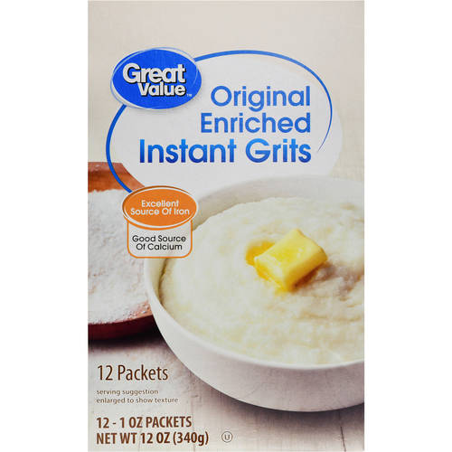 Great Value Original Instant Grits, 12ct