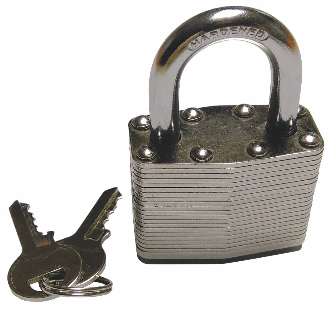 """Different-Keyed Padlock, 1"""" Shackle Height"""
