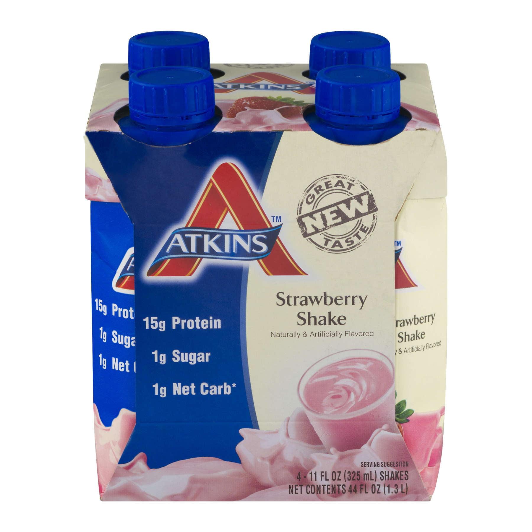 Atkins Strawberry Shake, 11Fl oz, 4-pack (Ready To Drink)