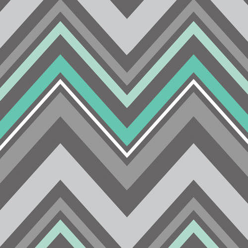 (100% Cotton Fabric For Quilting And Crafting By Emma And Mila From The Fresh Mint Collection: Chevron In Grey)