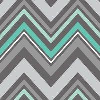 b0c886b65255 Product Image Emma   Mila Fresh Mint Collection Cotton Chevron in Grey  Fabric