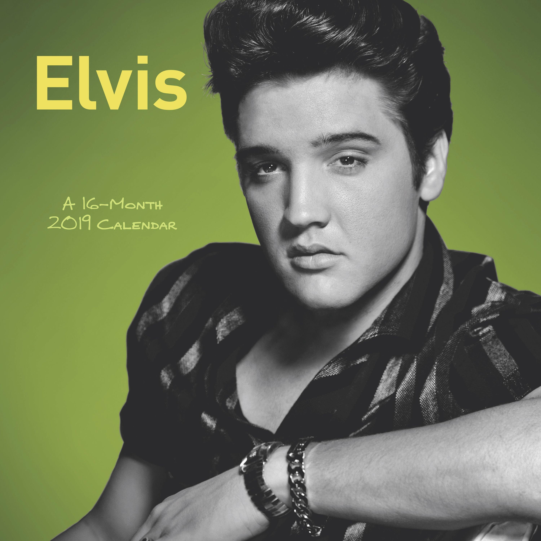 Mead® Elvis Presley 2019 Monthly Wall Calendar, 12