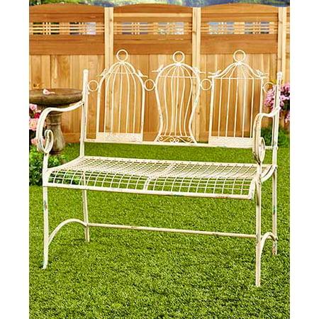 Outstanding Vintage Furniture And Decor Birdcage Garden Bench Metal Evergreenethics Interior Chair Design Evergreenethicsorg