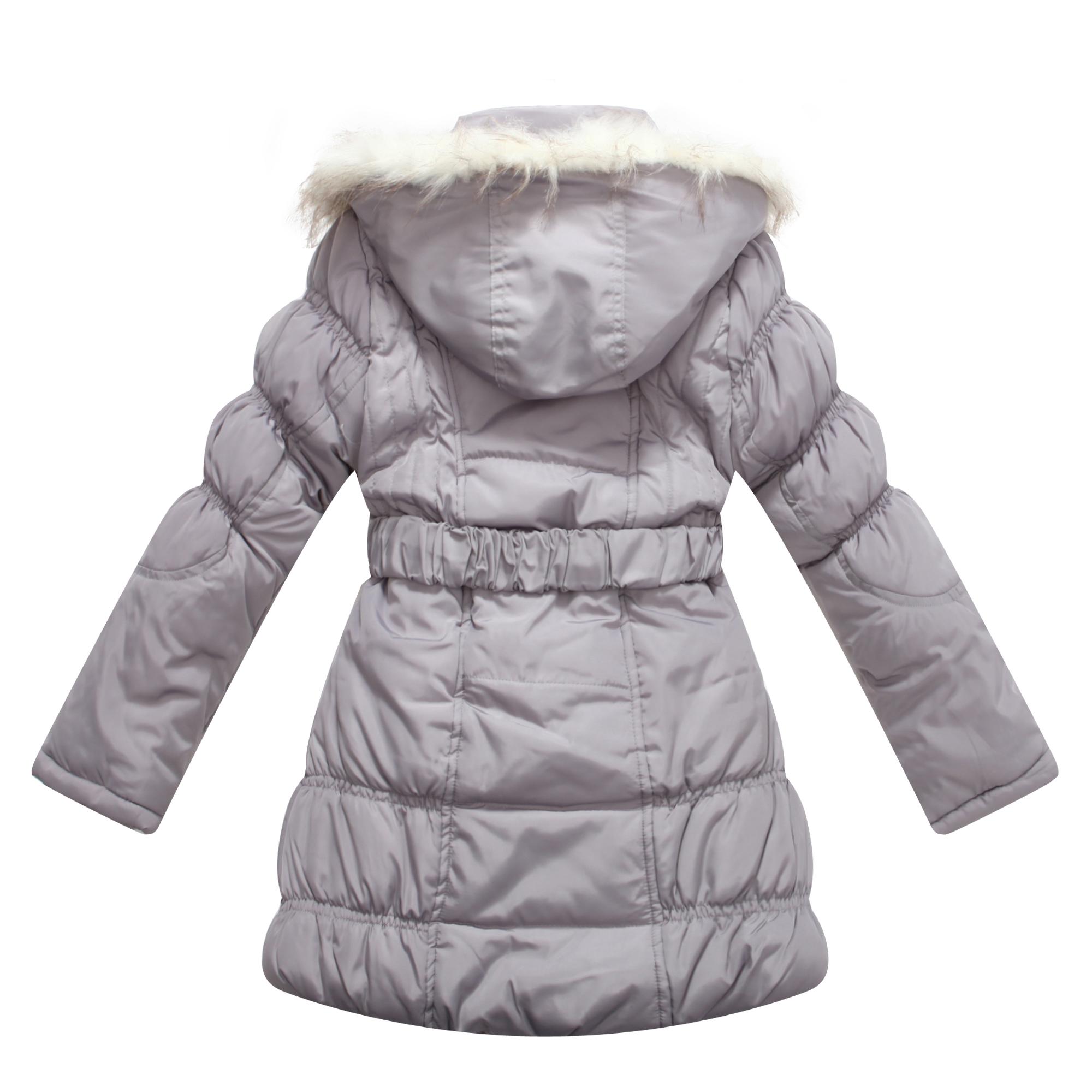 4c8adcc08319 Richie House - Richie House Girls Grey Fur Hood Belt Padded Winter ...