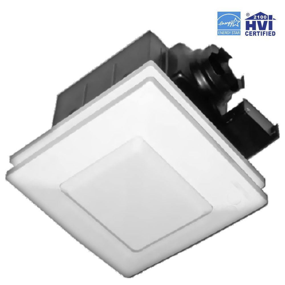 Reversomatic Softaire Sa 90sl Extremely Quiet Ventilation Exhaust Fan Light 90 Cfm 1 Sones