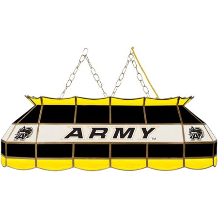 "Trademark Global Army Black Knights 40"" Stained Glass Billiard Table Light Fixture"