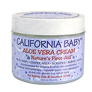 California Baby Aloe Vera Cream, 2 oz (Pack of 2)