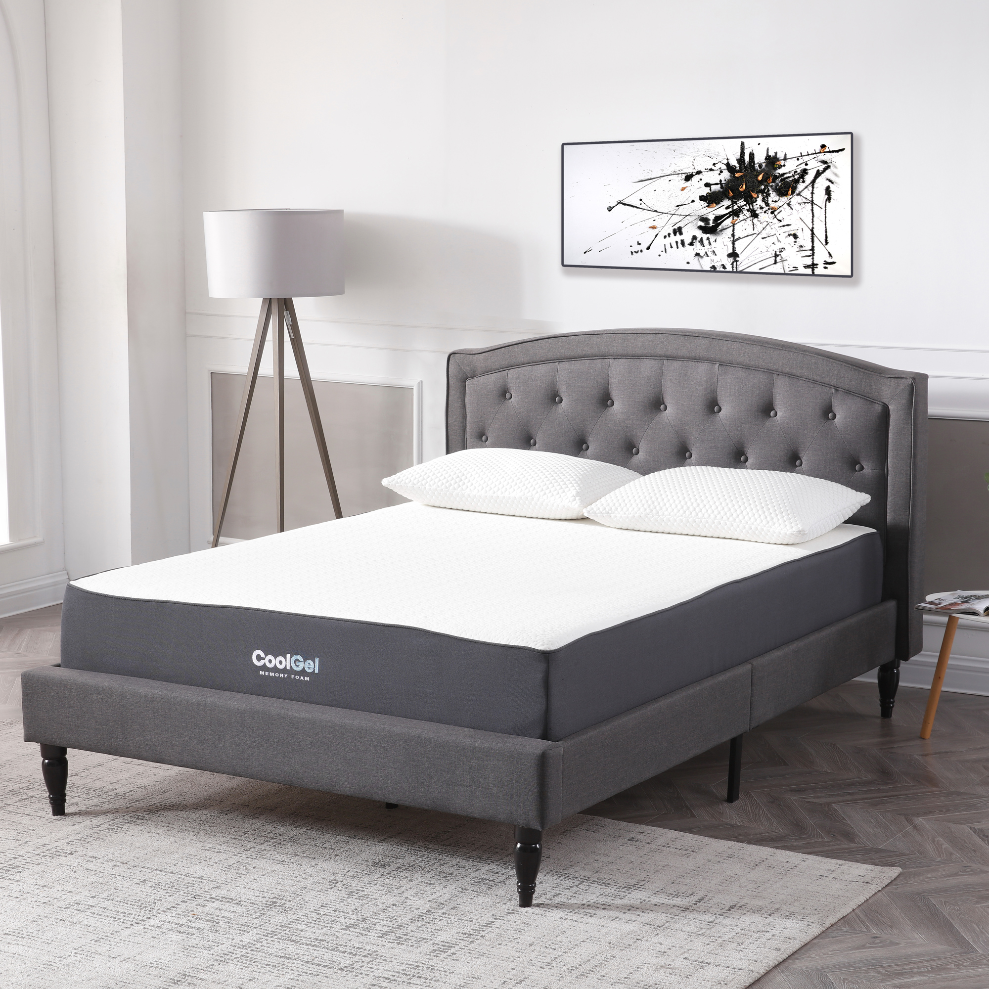 Modern Sleep Cool Gel Ventilated Gel Memory Foam 10.5-Inch Mattress, Multiple Sizes