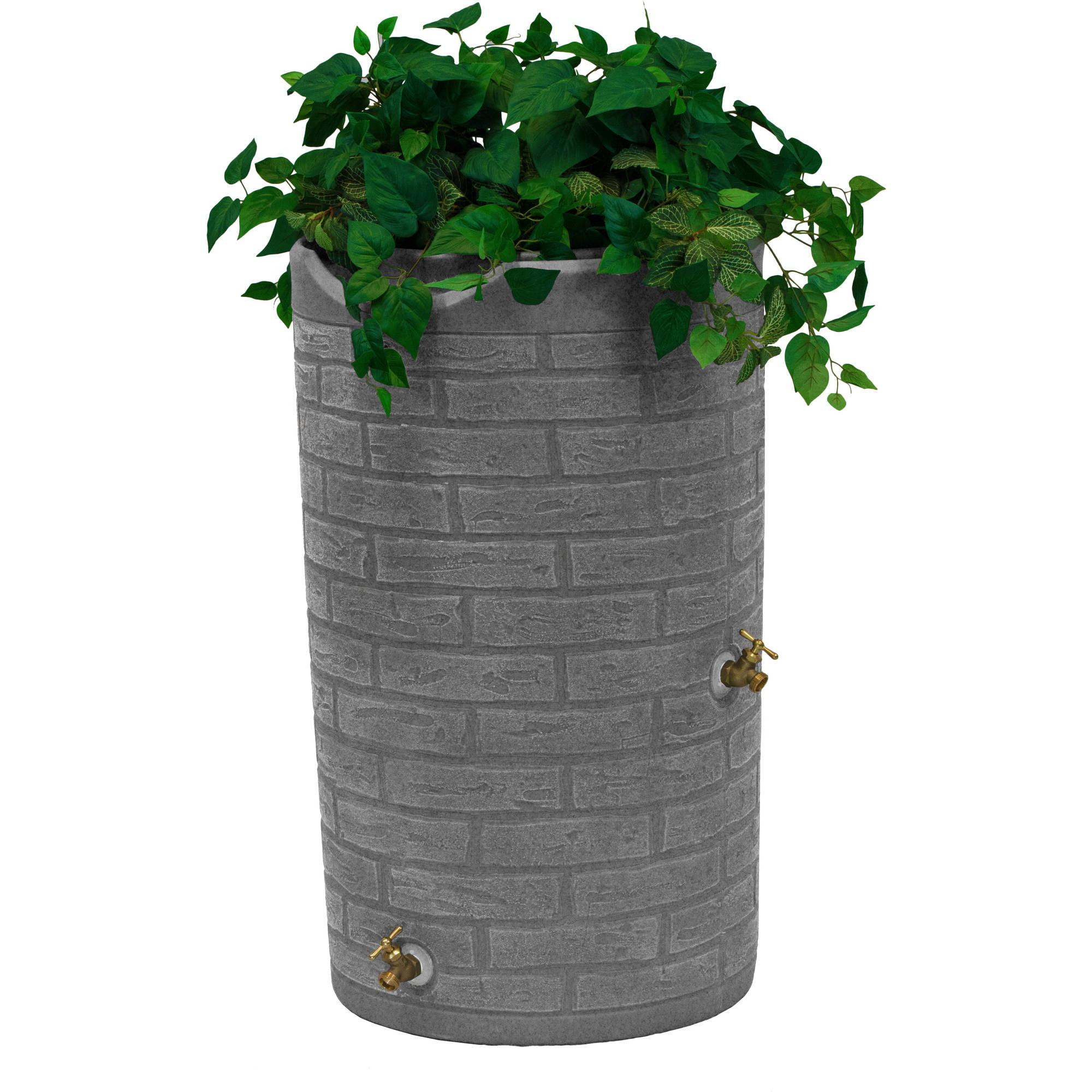 Impressions Downton 50-Gallon Rain Saver, Light Granite