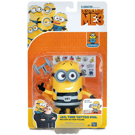Despicable Me 3 Jail Time Tattoo Phil Deluxe Action Figure - Tim Minion