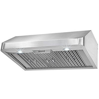 firebird new 36 european style under cabinet stainless steel range hood vent w/ push button (Range Hood Vent)