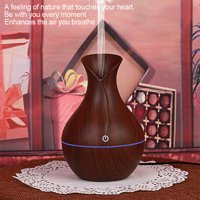 USB LED Dark/Light Wood Grain Air Humidifier Purifier Oil Diffuser 130ml, Aroma Humidifier, Oil Diffuser
