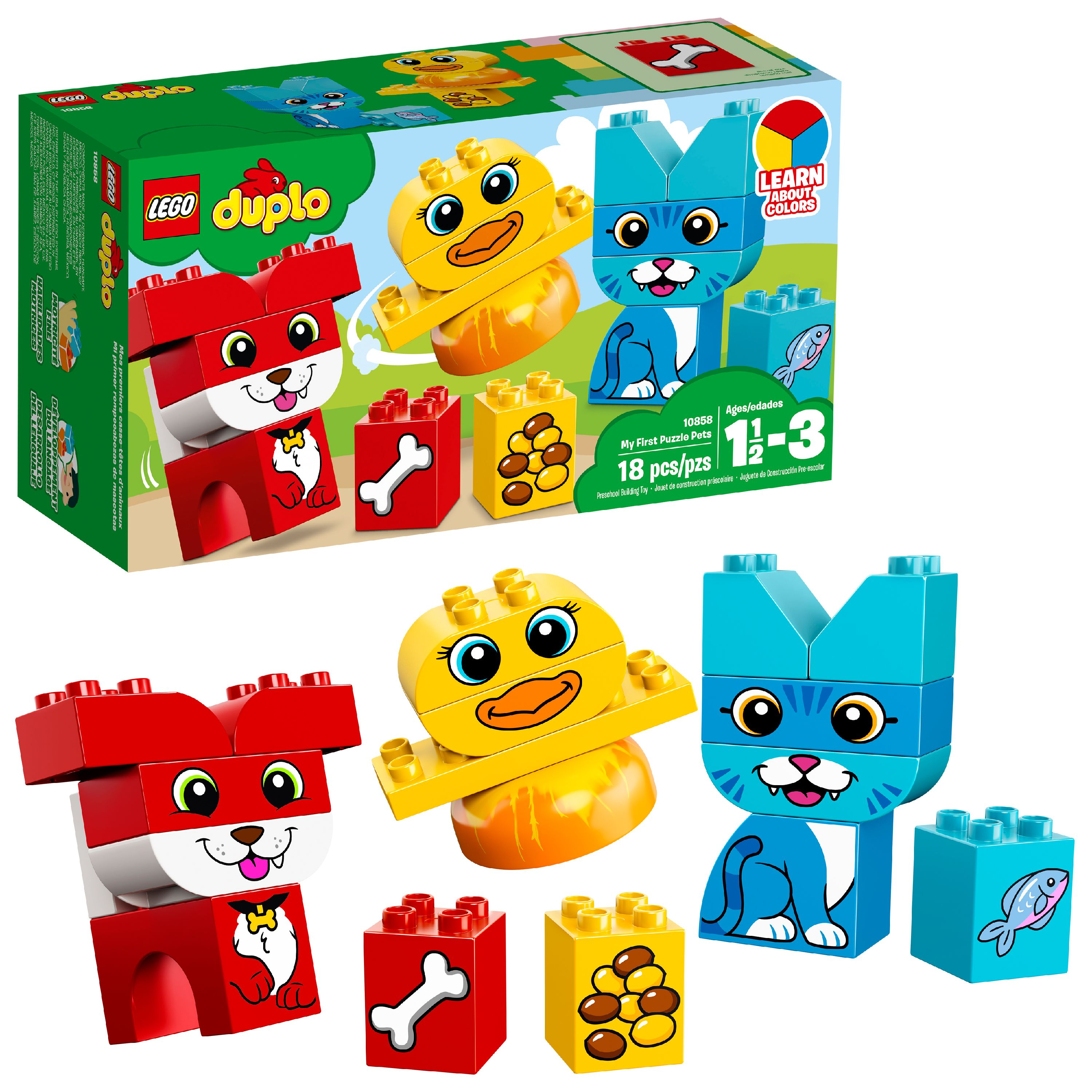 LEGO DUPLO My First My First Puzzle Pets 10858 (18 Pieces)