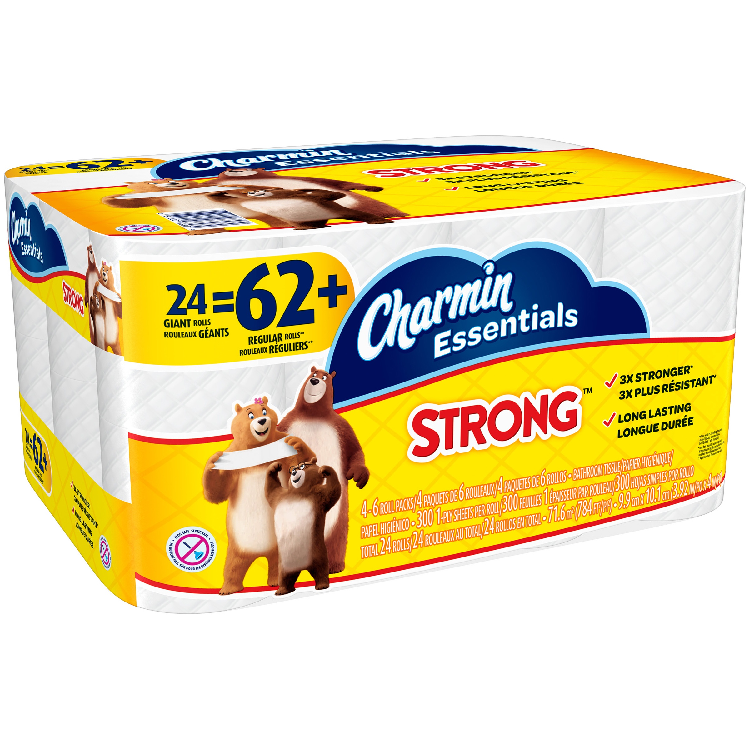 Charmin Essentials Strong Toilet Paper 24 Giant Rolls