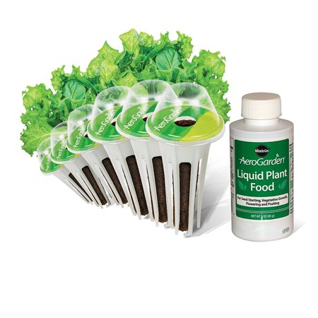 AeroGarden Salad Greens Mix Seed Pod Kit (6-Pod), The Salad Greens 6-Pod Seed Kit includes 6 pre-seeded pods, featuring lettuces: red/green leaf,.., By AeroGrow