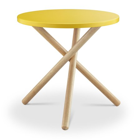 ACME Lanica End Table, Yellow & Natural ()