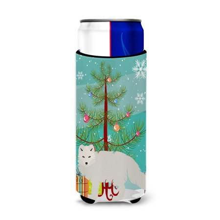 White Arctic Fox Christmas Michelob Ultra Hugger for slim cans BB9244MUK