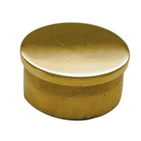 Lavi L00 600 2 Flush End Cap Fittings, Polished Brass - 2 in.