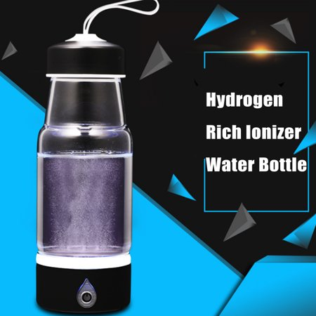 Stainless Steel Hydrogen Generator - 420ML Portable Intelligent Hydrogen Rich Water Maker Ionizer Generator USB