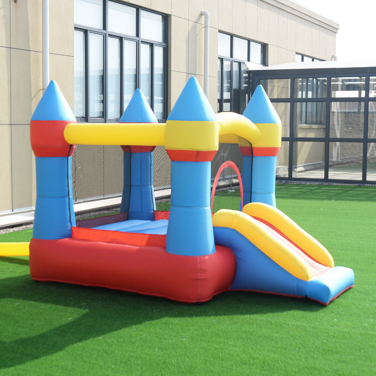 Goplus Inflatable Mighty Bounce House Jumper Castle Moonwalk Without Blower