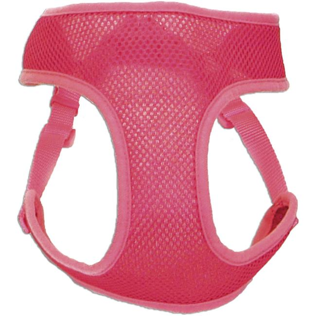 14 - 16 in. Comfort Soft Wrap Adjustable Dog Harness - 2XS, Pink